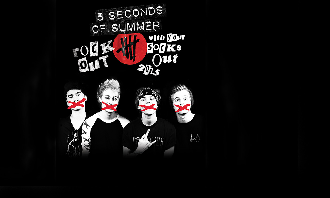 5sos poster design - 5 Seconds Of Summer Rock Out With Your Socks Out Tour At Jiffy Lube Live On Sun Sep 6 2015 7 30 Pm Edt Live Nation