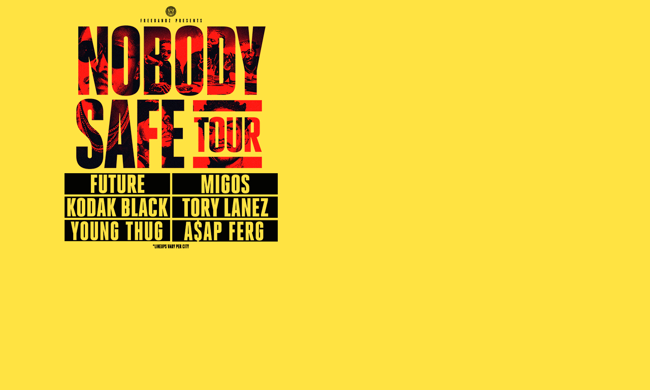pnc bank arts center upcoming shows in holmdel new jersey live future nobody safe tour